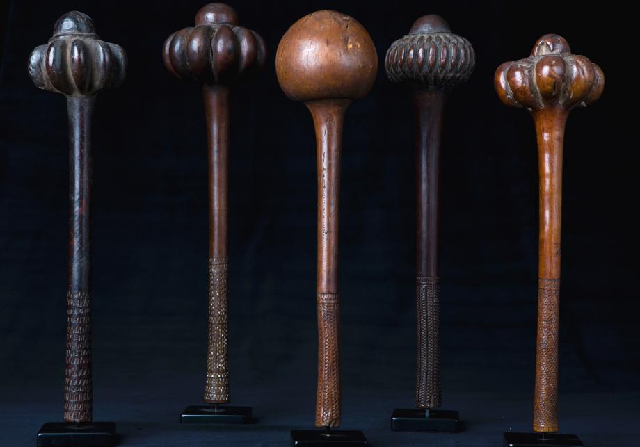 Collection of Ula Throwing Clubs Fiji Islands 18th -19th Century