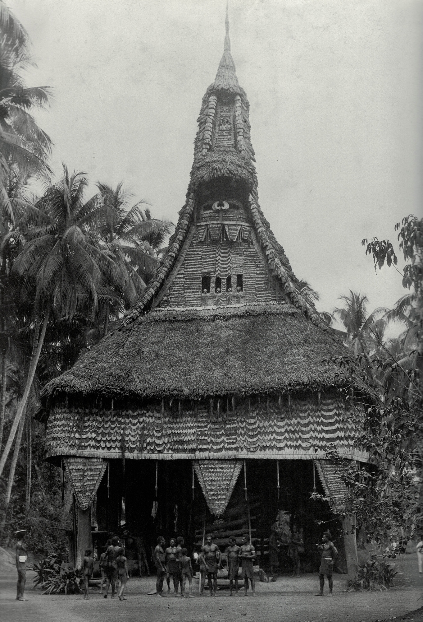 Gable Mask off a Ceremonial House Tambaran, Blackwater River Area, East Sepik Province, PNG