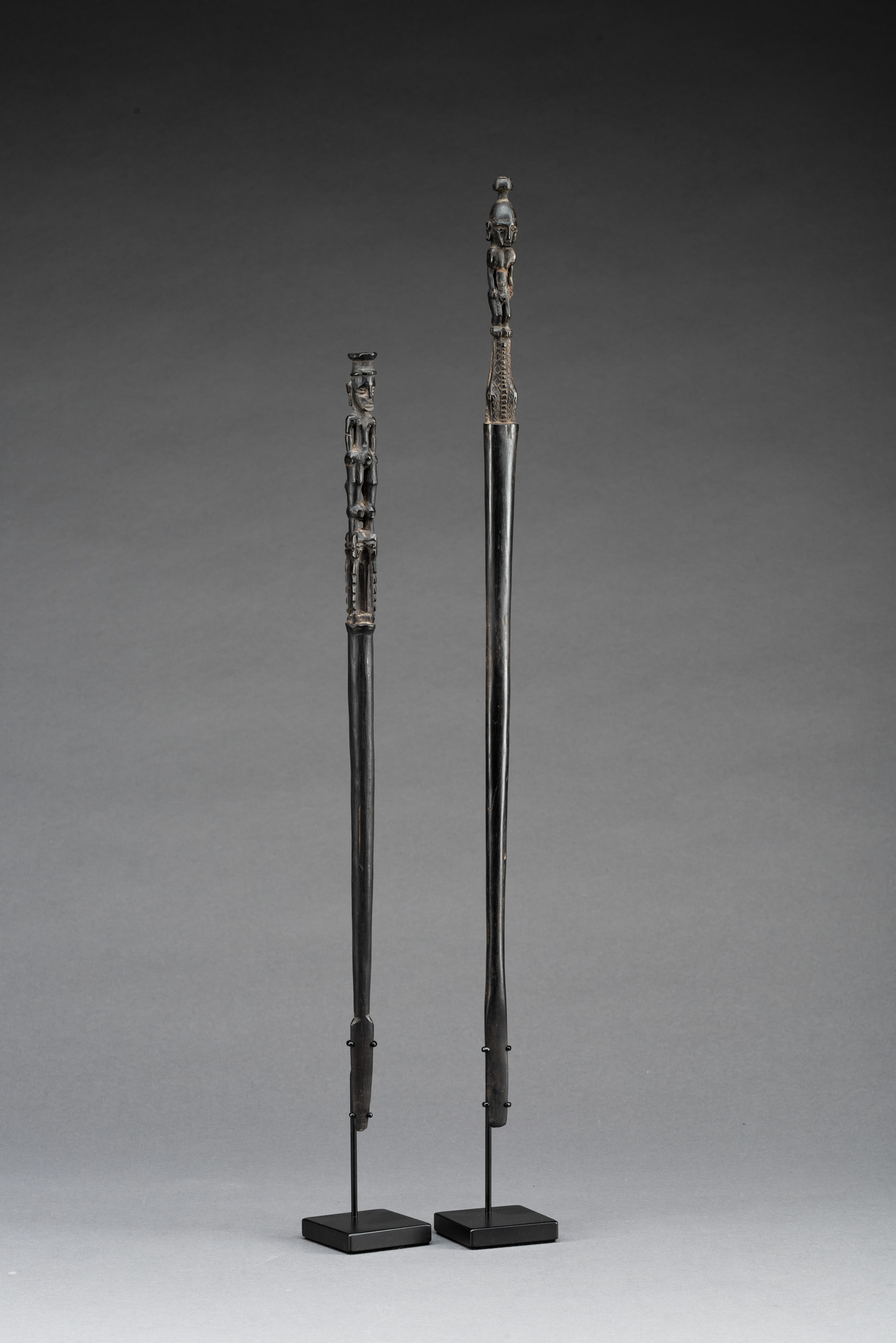 A Pair of 19th Century Lime Spatulas, Admiralty Islands