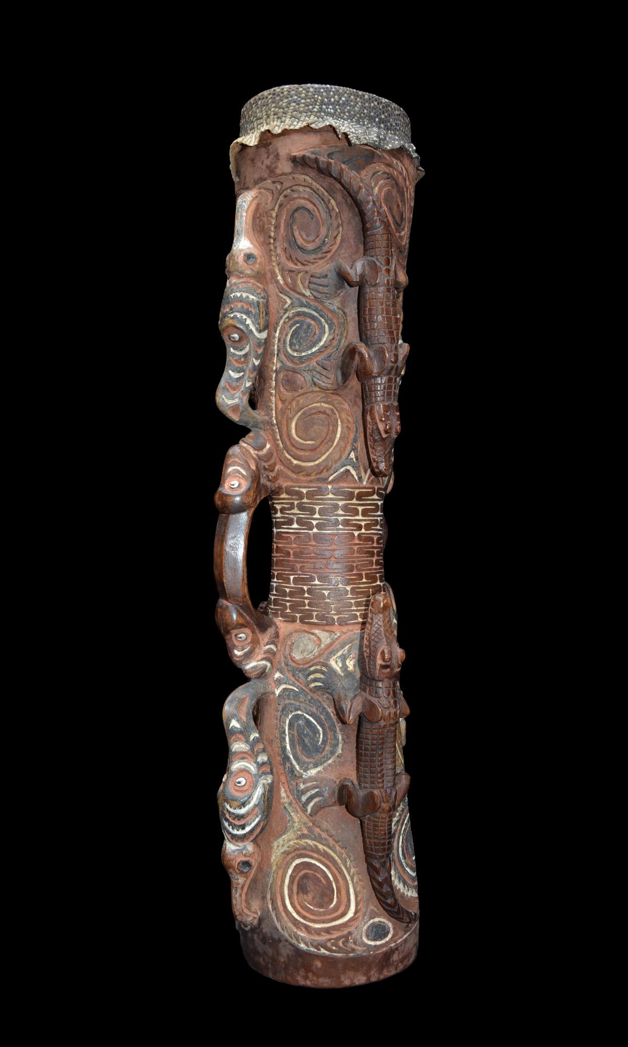 Drum Middle Sepik River Area East Sepik Province Papua New Guinea