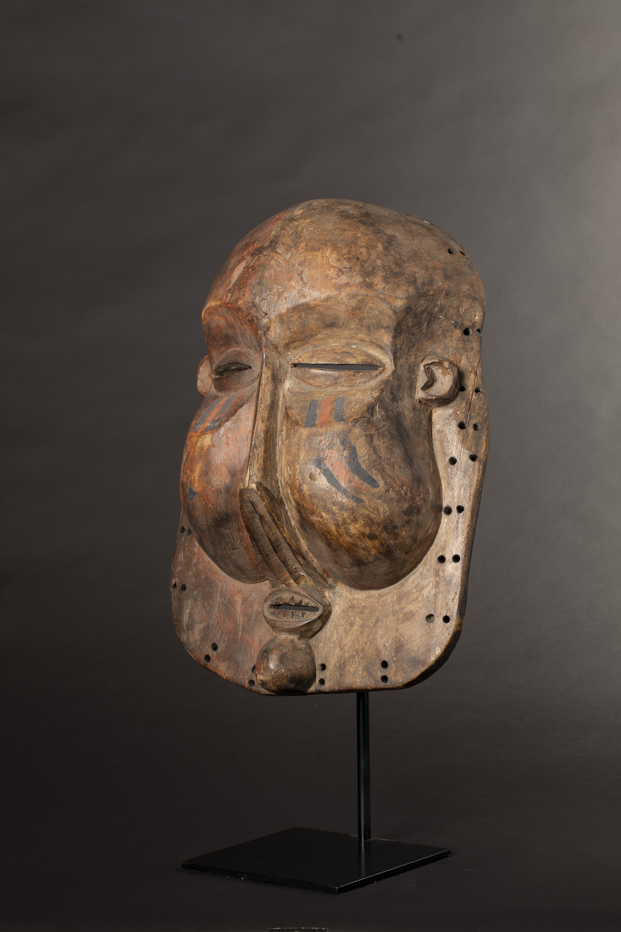 A Yaka Suku People Dance Mask from the Democratic Republic of Congo Africa