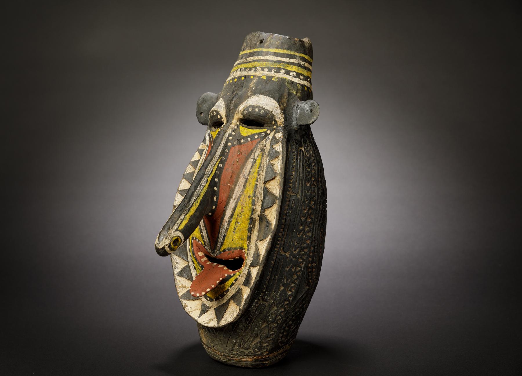 A Superb Waskuk Ritual Pottery Head Kwoma People Upper Sepik River PNG